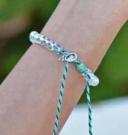 4OCEAN Beaded Bracelet Stingray Mint/Navy Blue