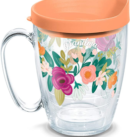 TERVIS TUMBLER 16oz Mug Mint Swag Grandma Floral