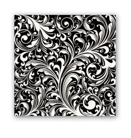 MichelDesign Works Black Florentine Cocktail Napkin