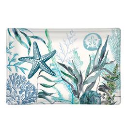 MICHEL DESIGN WORKS Glass Soap Dish Ocean Tide