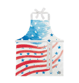 MICHEL DESIGN WORKS Childs Apron Red, White & Blue
