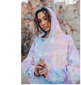 SHELLY COVE Sunset Sherbet Embroidered Hoodie