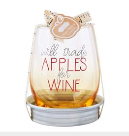 MUDPIE Apple Wine Coaster Set