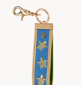 SPARTINA Blue Grab n Go Keychain Turtle