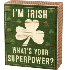 Box Sign I'm Irish