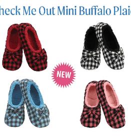 Check Me Out Mini Buffalo Plaid Ballerina Slippers