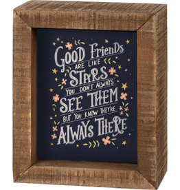 Inset Box Sign Good Friends