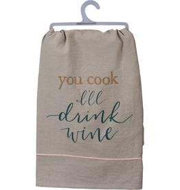 Dish Towel I'll Drink Wine