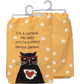 Dish Towel Normal Cat Lady
