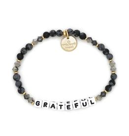 LITTLE WORDS PROJECT Bracelet Beaded Grateful