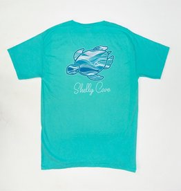 SHELLY COVE Mint Waves Short Sleeve Tee