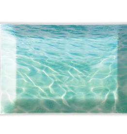 MICHEL DESIGN WORKS Glass Soap Dish Beach
