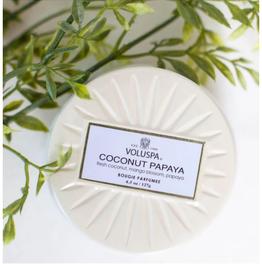 VOLUSPA Coconut Papaya Mini Tin Candle