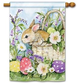 Easter Bunny Basket Standard Flag