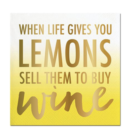 Cocktail Napkin Lemons Buy Wine