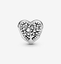 PANDORA Family Tree Heart Charm-Sterling Silver
