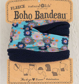 NATURAL LIFE CREATIONS Fleece Boho Bandeau Aqua Flora