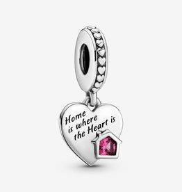 PANDORA Love My Home Heart Dangle Charm-Sterling Silver