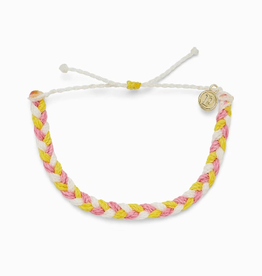 PURA VIDA Braided Bracelet Strawberry Lemonade