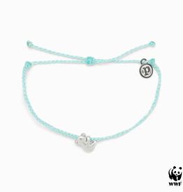 PURA VIDA Koala Silver Bracelet Seafoam