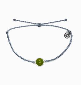 PURA VIDA Mood Charm Bracelet Silver Blue Steel