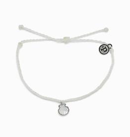 PURA VIDA Real Shell Silver Bracelet White