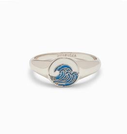 PURA VIDA Make Waves Signet Ring Silver Sz 9