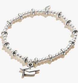 ALEX AND ANI Stretch Bracelet Class of 2021-Silver