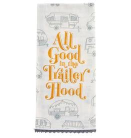 KARMA Flour Sack  Tea Towel Trailer Hood