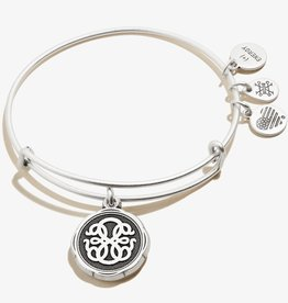 ALEX AND ANI Charm Bangle Path of Life V in Silver