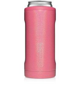 BRUMATE LLC Hopsulator Slim Glitter Pink 12oz