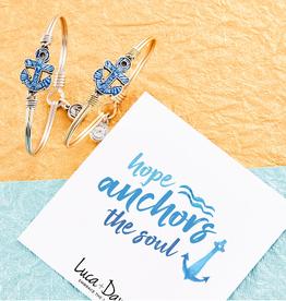LUCA & DANNI Bangle Bracelet Anchor Tie Dye: Hope anchors the soul - Regular