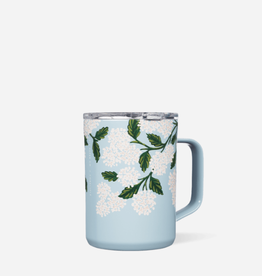 CORKCICLE 16oz Mug Rifle Paper Gloss Blue Hydrangea