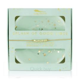 LUCKY FEATHER Bracelet & Dish Set Splash of Good Vibes