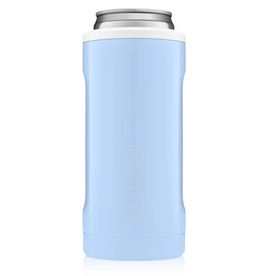 BRUMATE LLC Hopsulator Slim Baby Blue & White 12oz