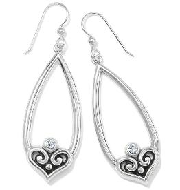 BRIGHTON Alcazar Heart Teardrop French Wire Earrings