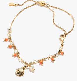 ALEX AND ANI Anklet Seashell -Shiny Gold