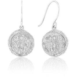 ANIA HAIE Emblem Hook Earrings-Silver