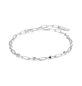ANIA HAIE Spike It Up Sliver Heavy Spike Bracelet-Silver
