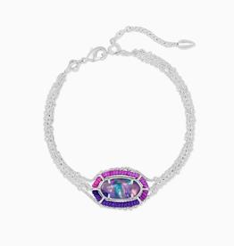 KENDRA SCOTT Bracelet Elaina Multi Strand Silver Lilac Abalone