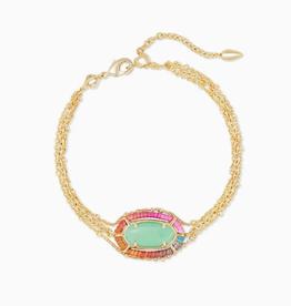 KENDRA SCOTT Bracelet Elaina Multi Strand Gold Mint Magnesite