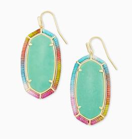 KENDRA SCOTT Earrings Threaded Elle Gold Drop Mint Magnesite