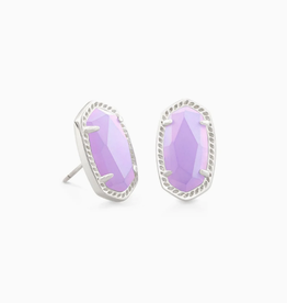 KENDRA SCOTT Earring Ellie Silver Iridescent Lilac