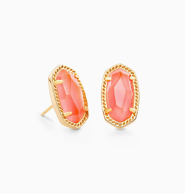 KENDRA SCOTT Earring Ellie Gold Coral Illusion