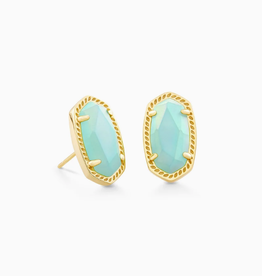 KENDRA SCOTT Earring Ellie Gold Iridescent Mint