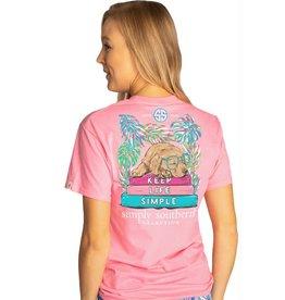 SIMPLY SOUTHERN Tee Shirt Keep Life Simple Flamingo