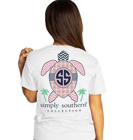 SIMPLY SOUTHERN Tee Shirt Original Turtle White