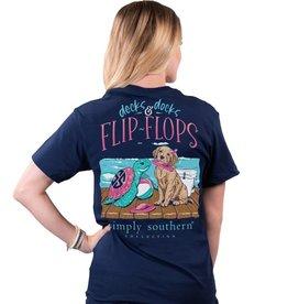 SIMPLY SOUTHERN Tee Shirt Flip Flops