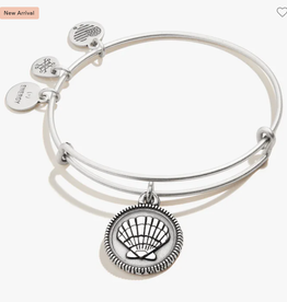 ALEX AND ANI Charm Bangle Seashell II in Silver