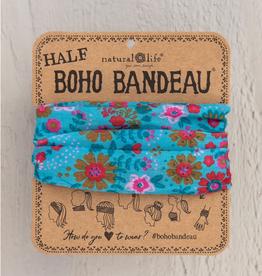 NATURAL LIFE CREATIONS Half  Boho Bandeau Lt Blue Floral